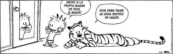 Calvin & Hobbes: Dios creo al hombre...