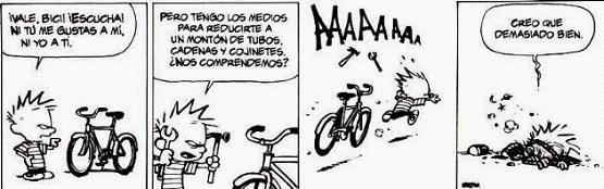 Comic 12.10.04-Calvin & hobbes: No siempre la presion es buena