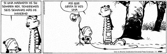 Comic 02.02.05 – Calvin & Hobbes: Dia de la marmota