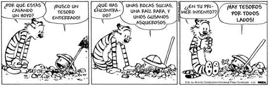 Calvin, Hobbes & Espinita: Tesoros... hay por todos lados