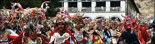 Pinceladas del carnaval boliviano