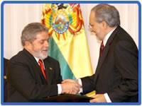 """Con Bolivia no quiero amistad... Presidente """"Lula""""  Brasil."""