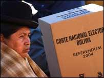 Ojos del mundo en Bolivia