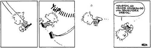 Comic 05.10.04 - Calvin & Hobbes: Conceptos de gravedad